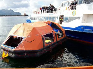 Not für Schiffe Rutsche