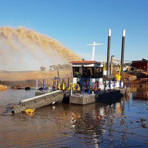 Schneidkopf-Saugbagger-Berufsboot / Katamaran