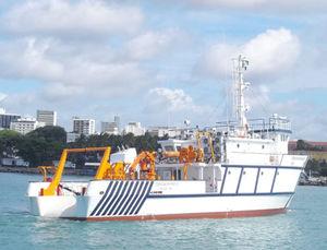 Schiff für die ozeanographische Forschung