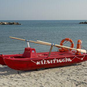 Ruderkatamaran für Rettungsmanöver