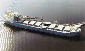 Selbstbelade-/ Entladesystem für Massengutfrachter-Schiffe (mechanisch)