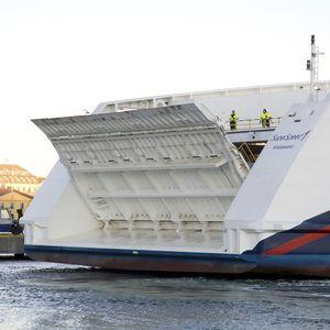 Rampe für Schiffe / Außenseite, Ro-Ro-Schiff