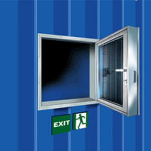 Fenster für Schiffe / Brandschutz / rechteckig / Glas
