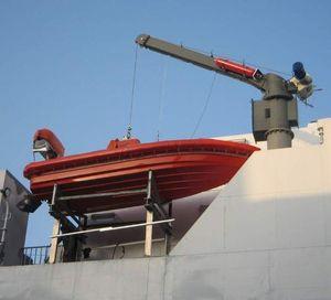 Davit für Schiffe / für Rettungsinseln / hydraulisch