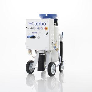 Sandstrahlmaschine für Werft