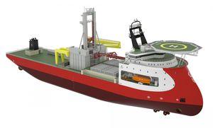 Spezialschiff für Bohrlöcher