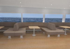 Polsterbank für Passagierschiff