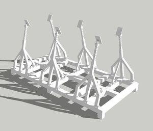 Bootsgestelle für Segelboote