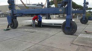 Abwasserbehälter / zur temporären Einlagerung / für Werft / weich
