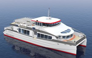 Passagierboot Berufsboot / Katamaran / Innenborder / Hybrid Diesel/Elektro