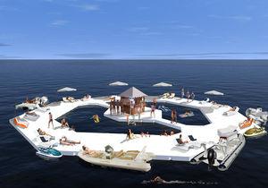 Künstlicher schwimmende Insel