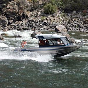 Angelboot für Tagesfahrten / Jetantrieb