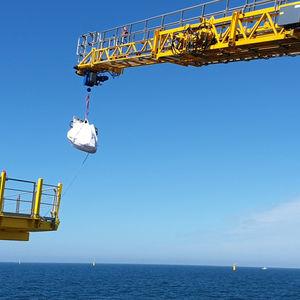 Gangway für Offshore Service Schiff / Teleskop / hydraulisch