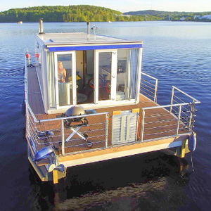 Katamaran-Hausboot / Außenbord / max. 4 Personen