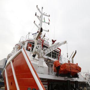 Davit für Rettungsboote / für Rettungsinseln / hydraulisch / elektrisch
