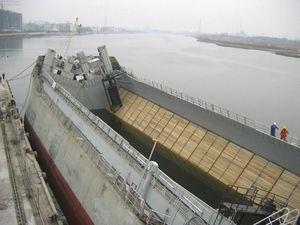 Klappschuten-Frachtschiff