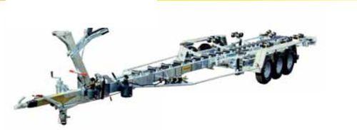 Anhänger für Materialumschlag / für Werft / hydraulisch / Rollen
