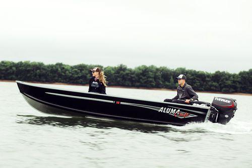 Offenes Boot / Außenbord / Sportfischer / Aluminium / max. 5 Personen