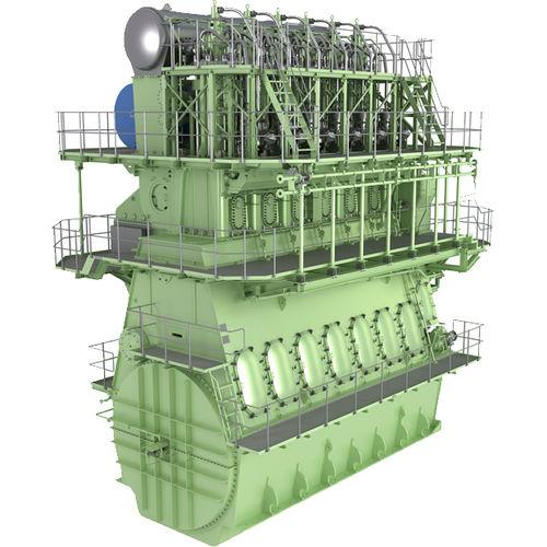 Langsamläufer-Schiffsmotor / Diesel / Tier 2