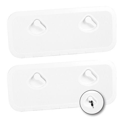 Deckluke zur Anwendung auf Booten / rechteckig / zum Öffnen / mit abgerundetem Winkel