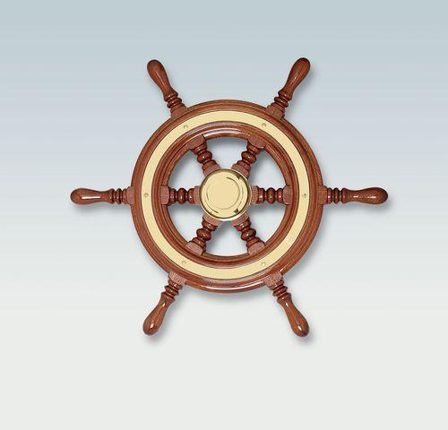Motorboot Lenkrad / Holz / traditionell