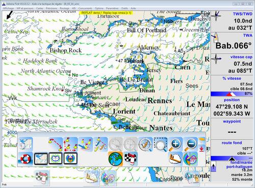 Navigationssoftware / zur Anwendung auf Booten