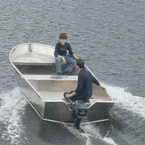 Offenes Boot / Außenbord / Open / Sportfischer / Aluminium