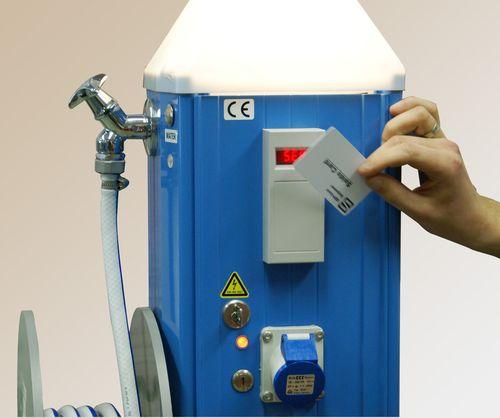 Bezahlsystem / Karten für Stromsäule für Steg