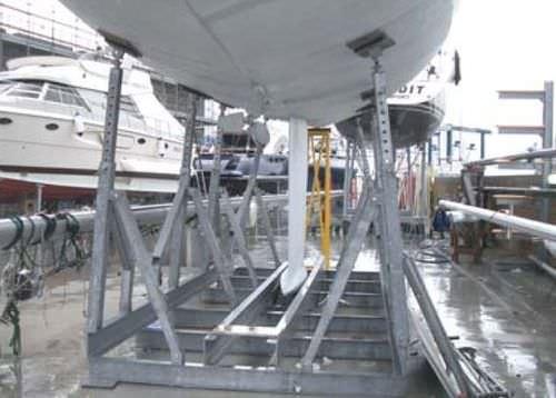 Bootsgestell für Segelboote