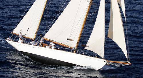 traditionelle Segel-Yacht / mit offenem Heck / Ketch