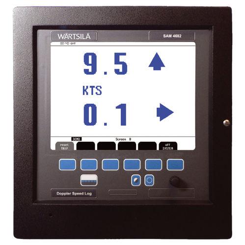 Geschwindigkeitsmesser für Schiffe / digital / Doppler / zweiachsig