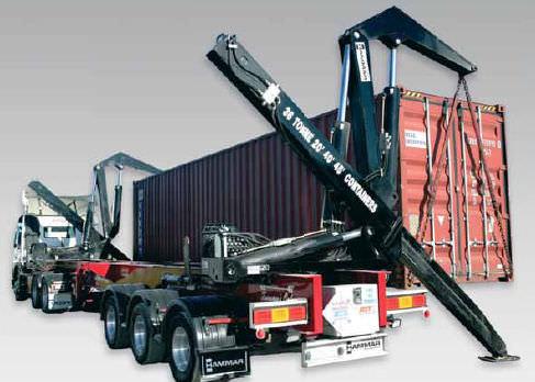 Container-Anhänger / für Hafenterminals / Seitenhub / selbstladend
