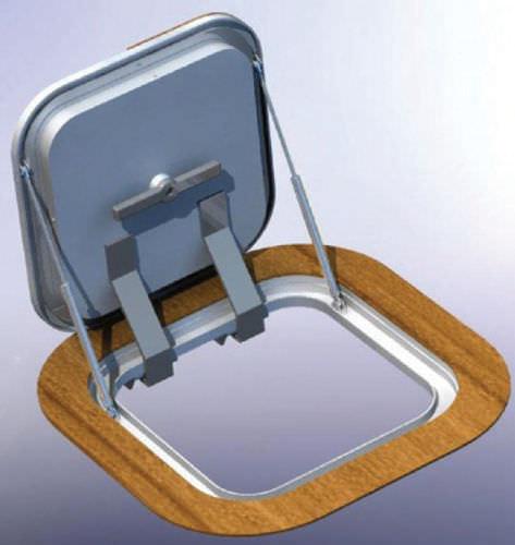Deckluke für Boot / quadratisch / zum Öffnen