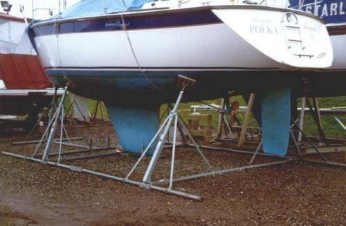 Stützfuß zum Aufdocken / für Segelboote