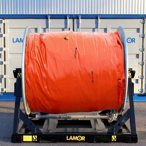 Rollreffanlage für Ölsperren / Container