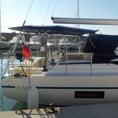 Bimini-Top / für Segelboote / für Ruderhaus / Edelstahlgestell / kundenspezifisch