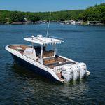 Außenbord-Konsolenboot / dreimotorig / Mittelkonsole / Open
