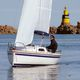 Daysailer-Segelboot / mit offenem Heck / Bugspriet / trailerbar