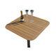 Tisch für Boote / für Yachten / aus Teakholz