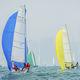 Segelboot / Regatta Kielboot / Regatta / Bugspriet