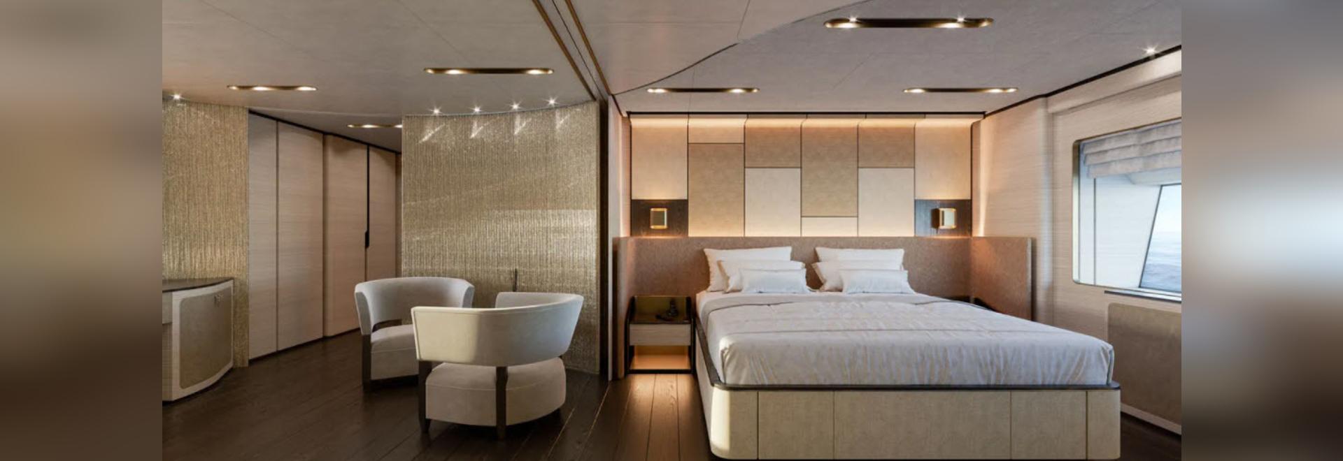 Baglietto enthüllt das Innere des 48 Meter langen Rumpfes der T-Line Superyacht 10233