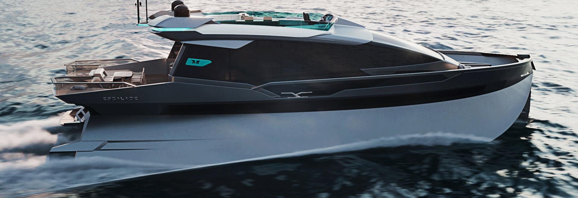 Im Inneren der 25-Meter-Trimonoran-Yacht-Konzept-Eskalade
