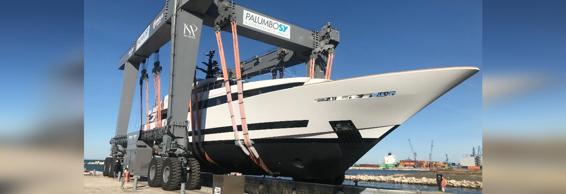 ISA startet zweites superyacht unter Palumbo-Besitz