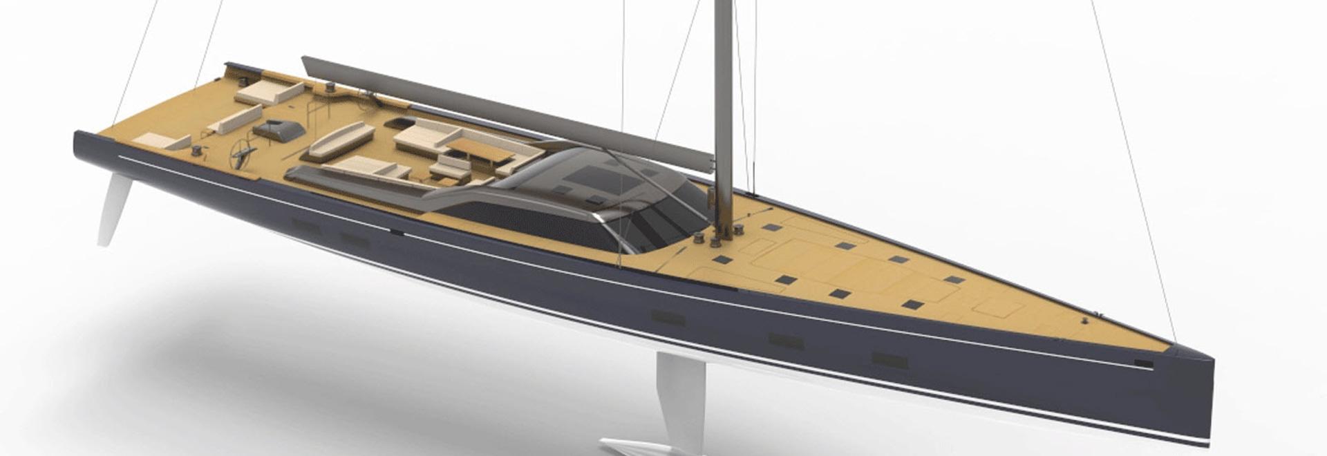 Royal Huisman baut 46-Meter-Hochleistungs-Segelyacht Projekt 405