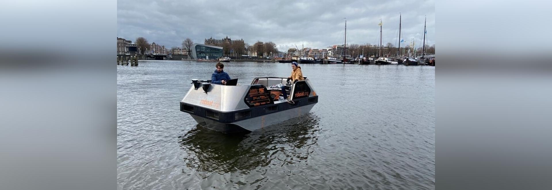 """Selbstfahrende Elektroboote"""" sollen auf Amsterdamer Grachten getestet werden"""