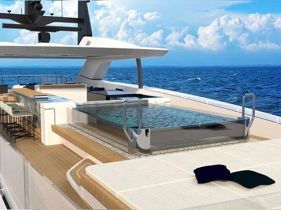 Neue 55m Baglietto 10225 Superyacht kurz vor der Fertigstellung