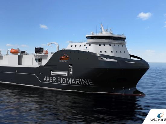 Wärtsilä plant und rüstet Transportschiff für Aker BioMarine aus