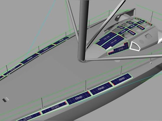 Das endgültige Systemdesign - 1.149Wp, Gewicht nur 24,5kg inklusive Klebstoff