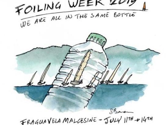 """2019 Foiling Week Garda """"Wir sind alle in der gleichen Flasche"""""""