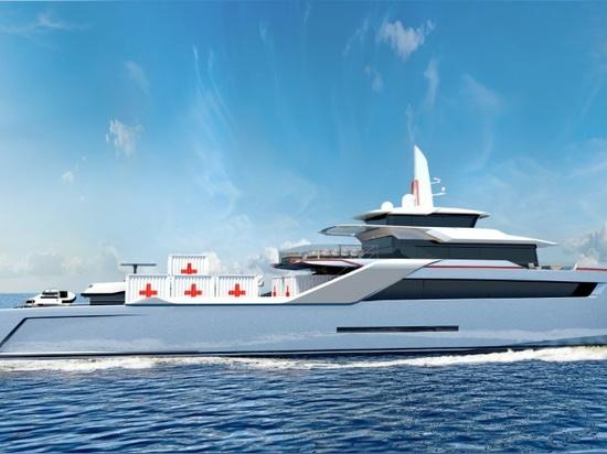 Echo Yachts gibt Entwurf eines humanitären Hilfsschiffes frei